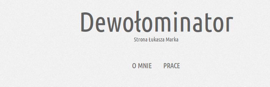 Zrzut ekranu nowej strony